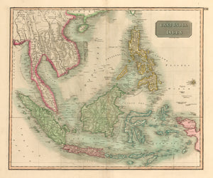 East India Isles : Antique Map of Southeast Asia by John Thomson 1817