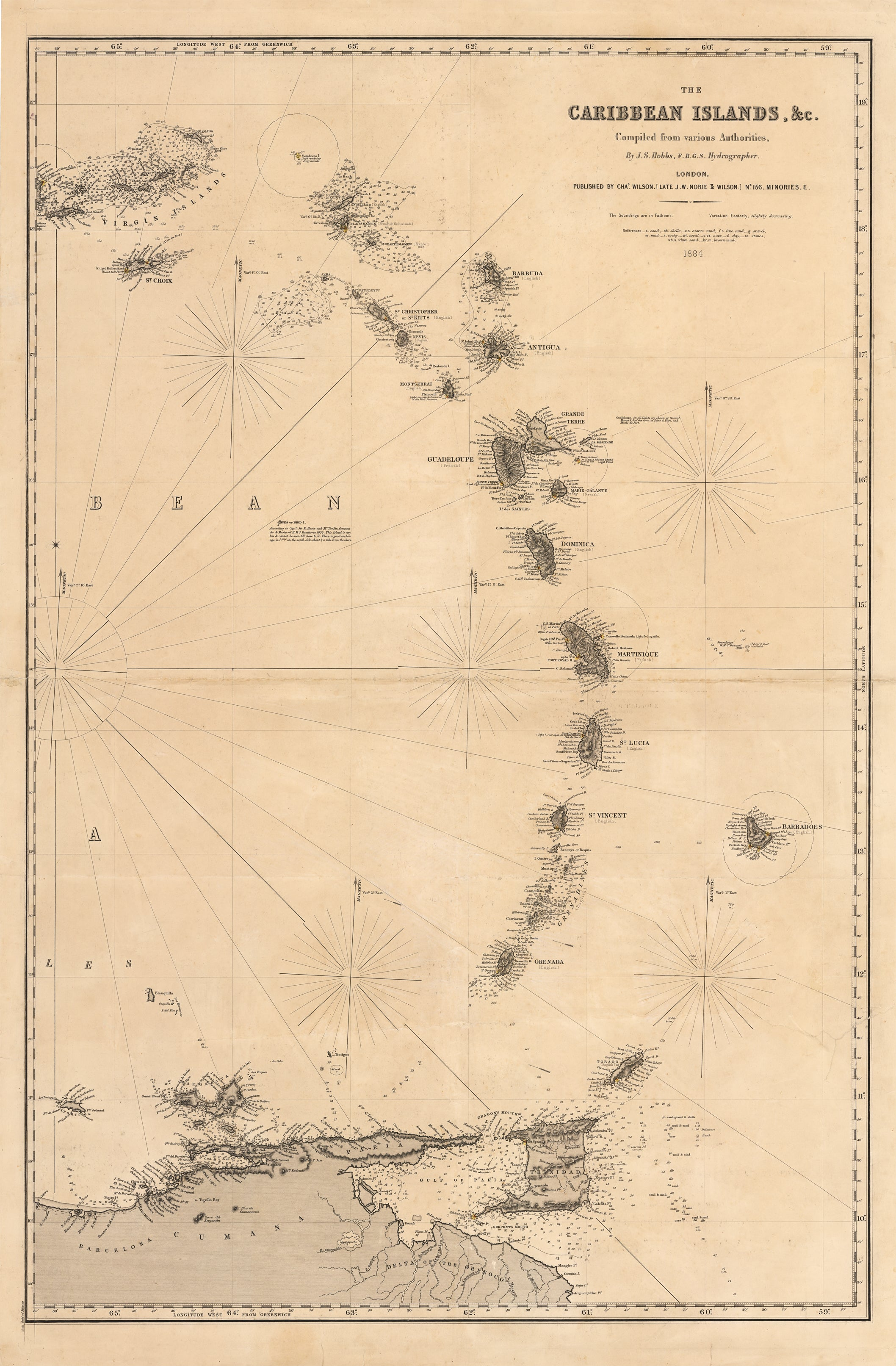 1884 The Caribbean Islands, & c. Zoomed Map Of The Caribbean Islands on map of haiti, map of bermuda, map of cuba, map of the northern hemisphere, map of the americas, map of the mediterranean, map of dominican republic, map of grenada, map of the world, map of the virgin islands, map of kenya, map of mexico, map of florida, map of belize, map of europe, map of panama, map of jamaica, map of the hawaii islands, map of puerto rico, map of the bahamas islands,