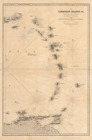 1884 The Caribbean Islands, & c.