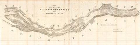 1837 No. 2. Map of the Rock Island Rapids of the Mississippi River