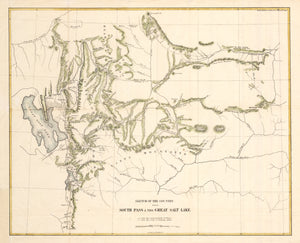 1857 Sketch of the Country between South Pass & the Great Salt Lake