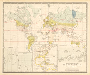 The Geographical Distribution of Health & Disease, in Connection Chiefly with Natural Phenomena. By: Alexander K. Johnston Date: 1856