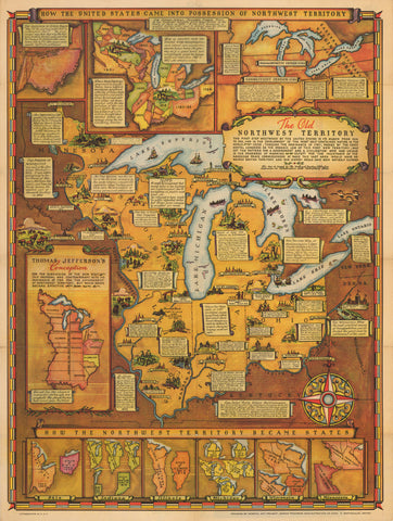 1937 How The United States Came Into The Possession Of Northwest Territory