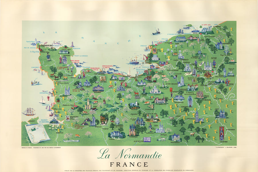 La Normandie France by: Remy Hetreau 1955 - nwcartographic.com