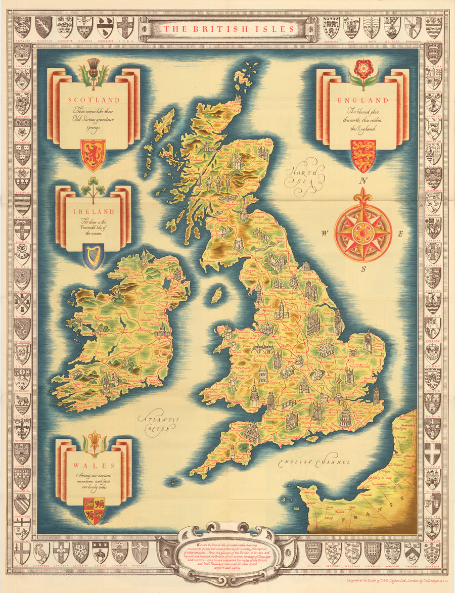 The British Isles By: Cecil Meyer, 1935 : nwcartographic.com