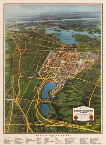 1939 Map of the New York World's Fair and Approaches…