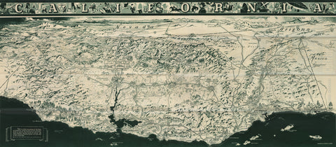 1936 California Official Tourist Picture Map