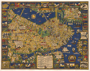 The Colour of an Old City a Map of Boston… By: Edwin Olsen & Blake Clark Date: 1926 (Published) Boston Dimensions: 28.5 x 37.5 inches