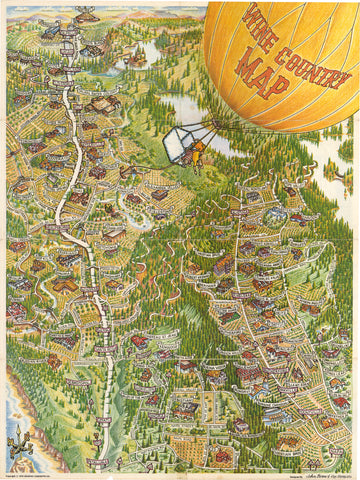 1979 Wine Country Map