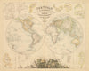 The World in Hemispheres With Comparative Views Of The Heights Of the Principal Mountains and Basins of the Principal Rivers On The Globe