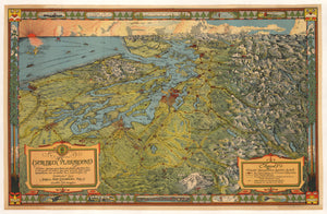 Antique Map : Evergreen Playground By: Kroll Map Company, Inc. Date: 1930 (circa)
