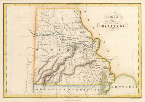 1832 Map of the State of Missouri
