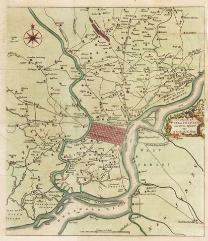 1753 - 1777 A Map of Philadelphia and Parts Adjacent
