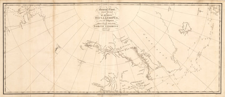General Chart shewing the track of H.M. Ships Hecla & Griper, from the Orkneys to Melville Island, North Georgia. S.F. 1819 and return in 1820.