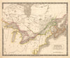 Antique Map : Canada, New Brunswick and Nova Scotia