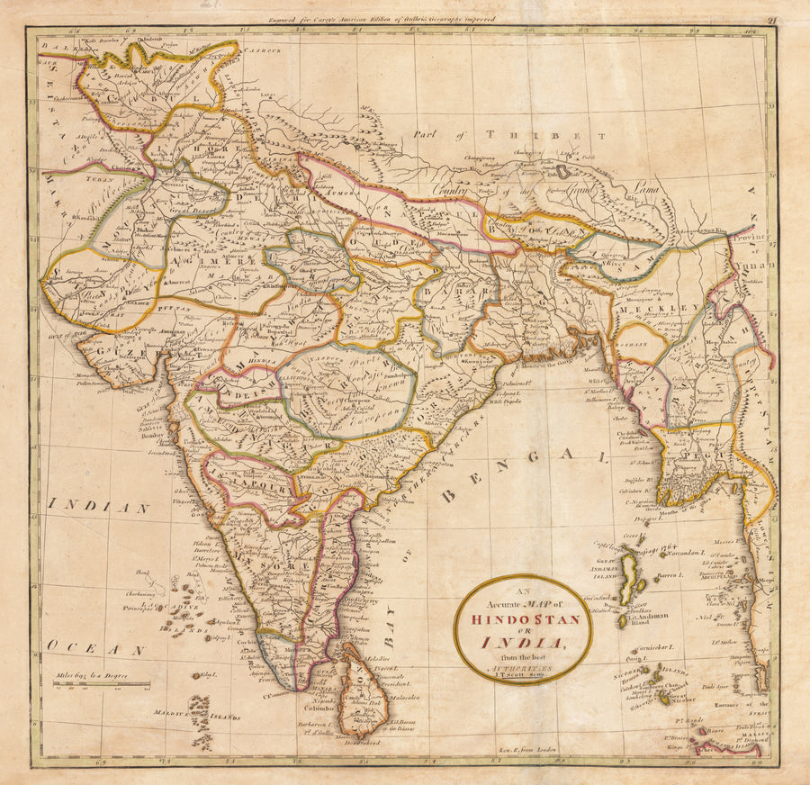 An Accurate Map of Hindostan or India from the best Authorities