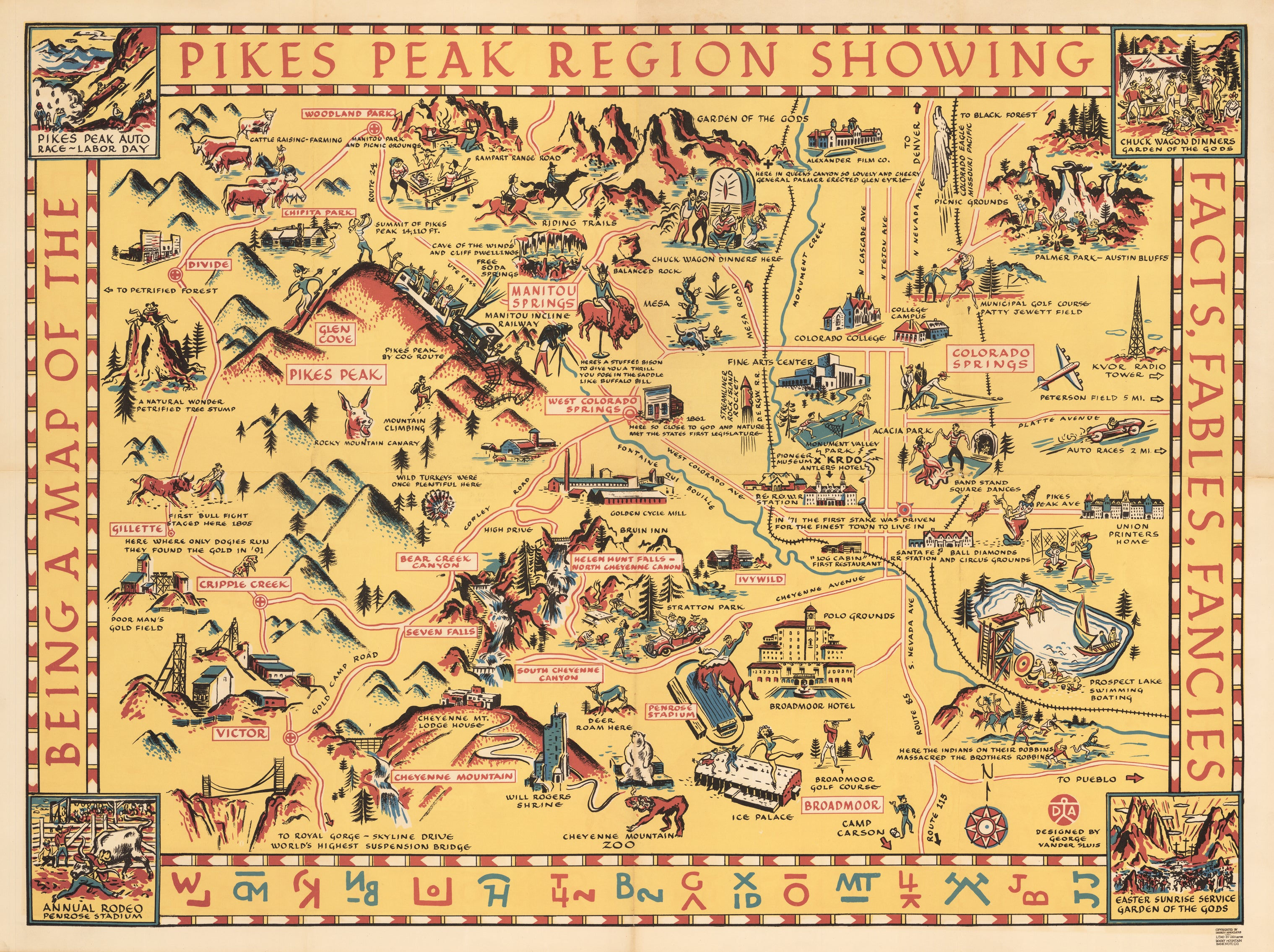 Being a Map of the Pikes Peak Region Showing Facts, Fables, Fancies