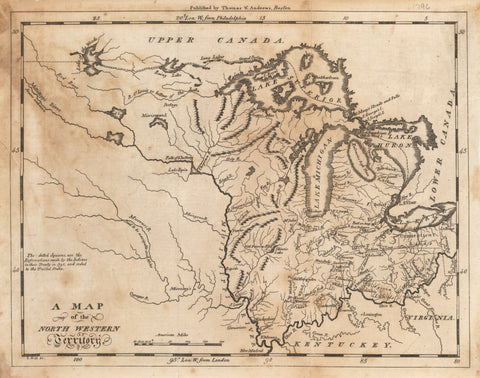 1796 A Map of the North Western Territory