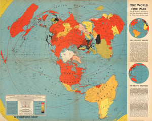 Fortune Magazine map published to influence American perceptions during WWII