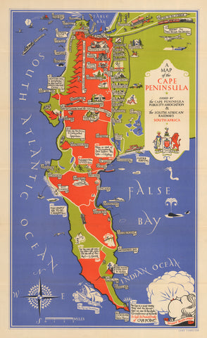 1931 A Map of the Cape Peninsula