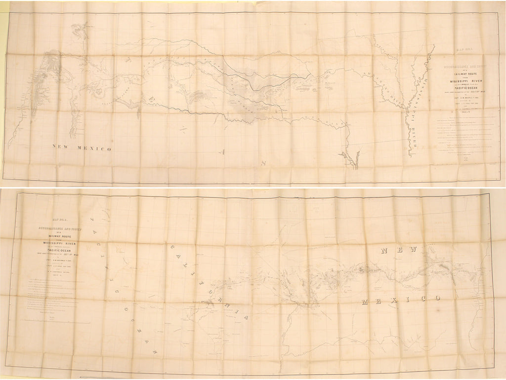 1855 Reconnaissance and Survey of a Railway Route from Mississippi River near 35th Parallel…to Pacific Ocean