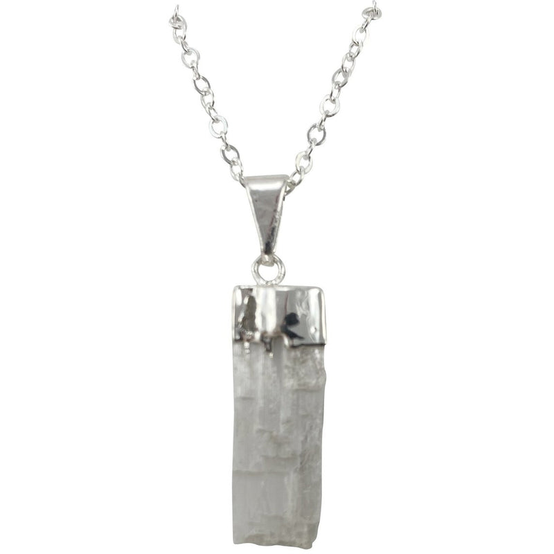 "0.75"" Selenite Pendant Necklace - East Meets West USA"