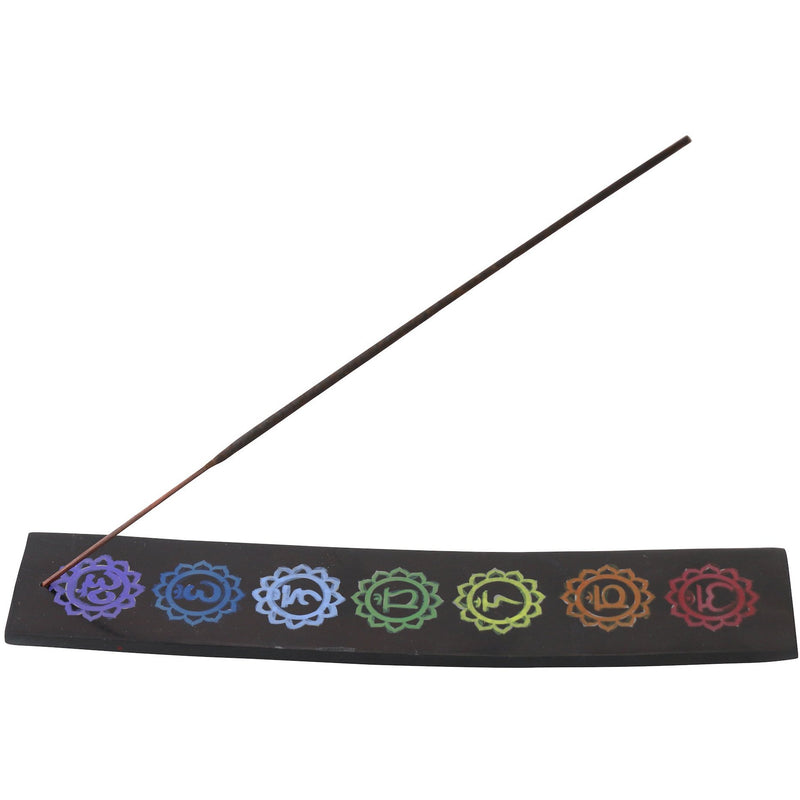 "10"" Soapstone Chakra Incense Burner - East Meets West USA"