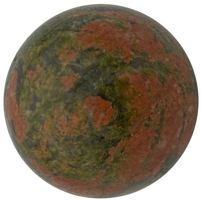 "1.25"" Unakite Sphere - East Meets West USA"