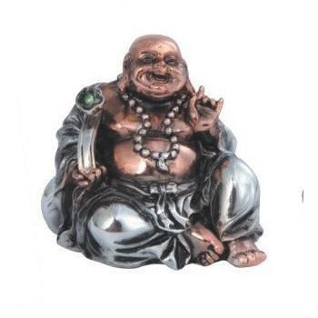 "2"" Rose Gold/Silver Sitting Buddha Figurine - East Meets West USA"
