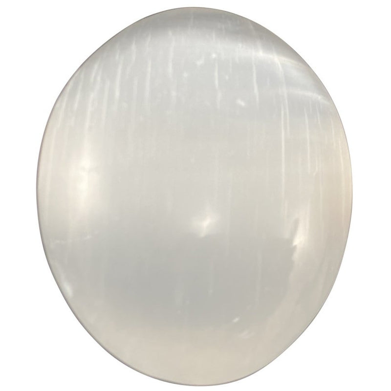 "2.5"" Selenite Palm Stone - East Meets West USA"