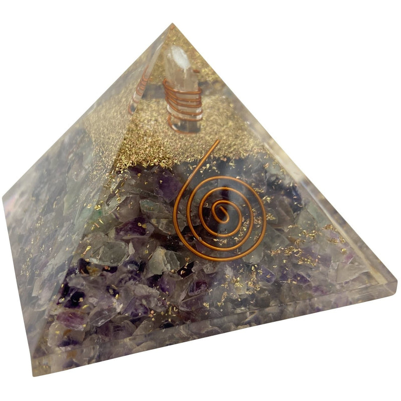 "2.50"" Orgone Pyramid w. Amethyst - East Meets West USA"