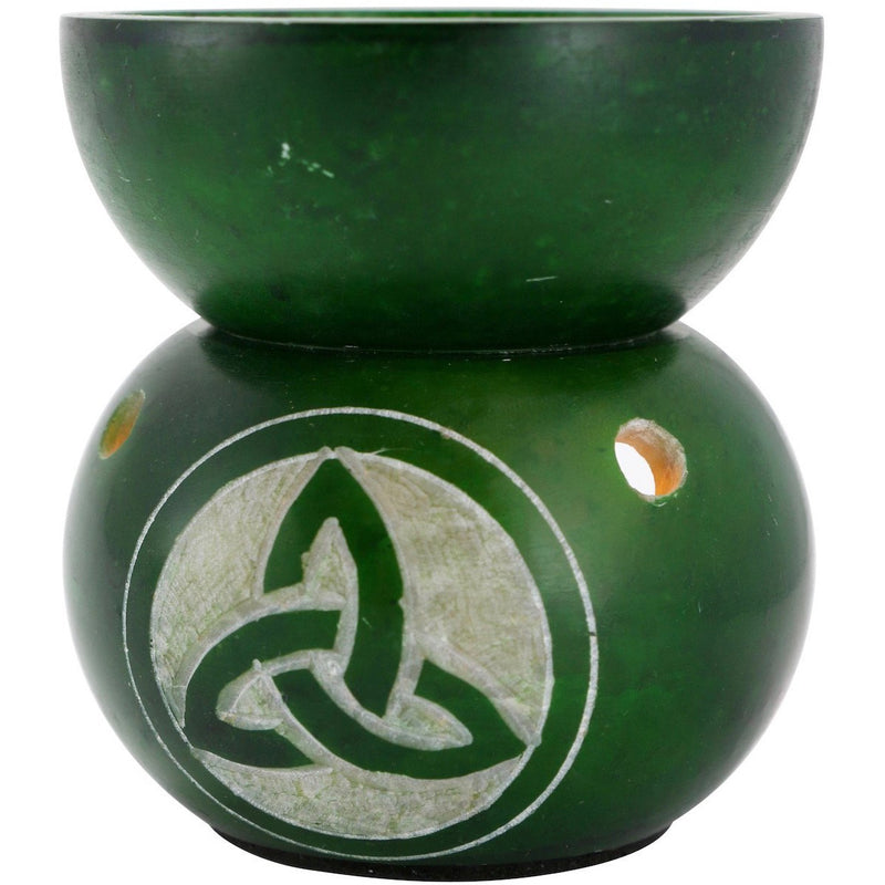 "3.25"" Soapstone Triquetra Oil Burner - East Meets West USA"