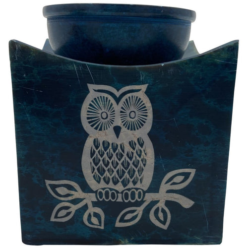 "3.5"" Soapstone Owl Oil Burner - East Meets West USA"