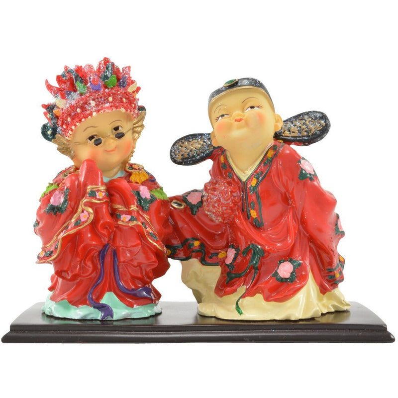 "4"" Bride and Groom Figurine - East Meets West USA"