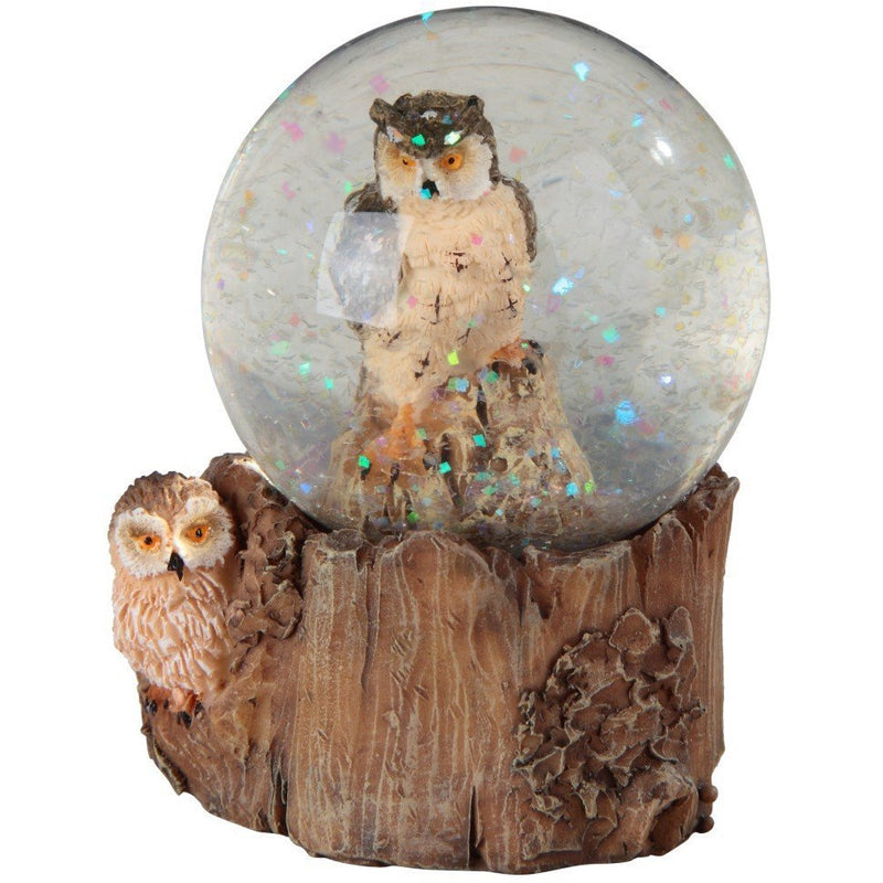 "4"" Owl in Globe Figurine - East Meets West USA"