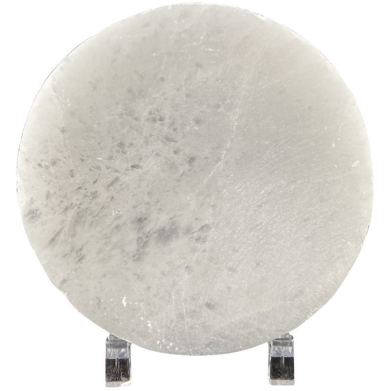 "4"" Round Selenite Charging Plate - East Meets West USA"