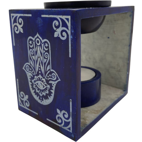 "4.25"" Soapstone Hamsa Oil Burner - East Meets West USA"