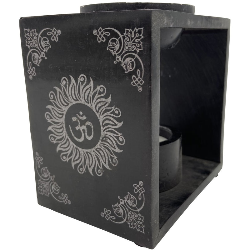 "4.25"" Soapstone Om Oil Burner - East Meets West USA"