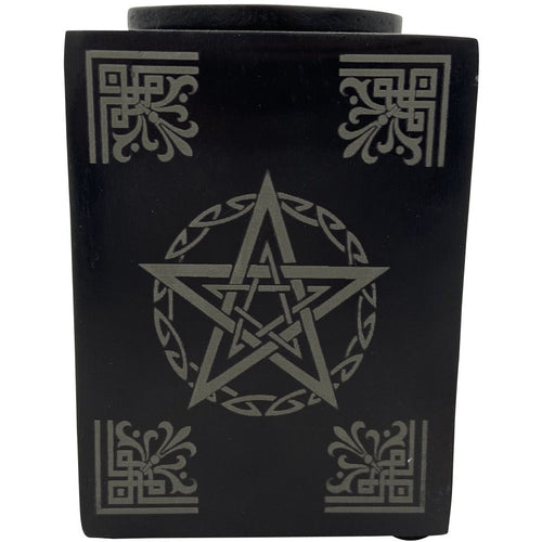 "4.25"" Soapstone Pentagram Oil Burner - East Meets West USA"