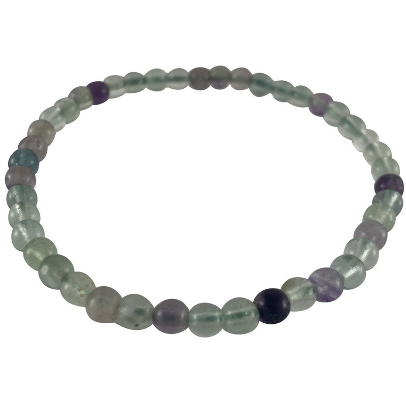 4mm Rainbow Flourite Bracelet - East Meets West USA