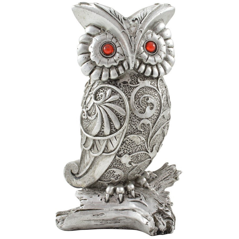 "5"" Owl on Branch Figurine - East Meets West USA"