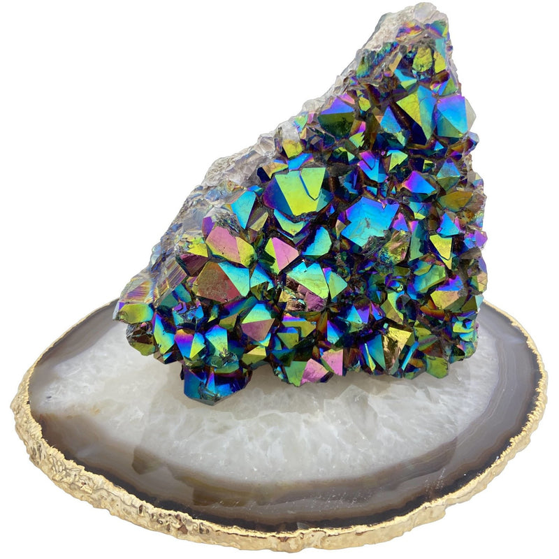"5"" Titanium Aura Quartz Free Form - East Meets West USA"