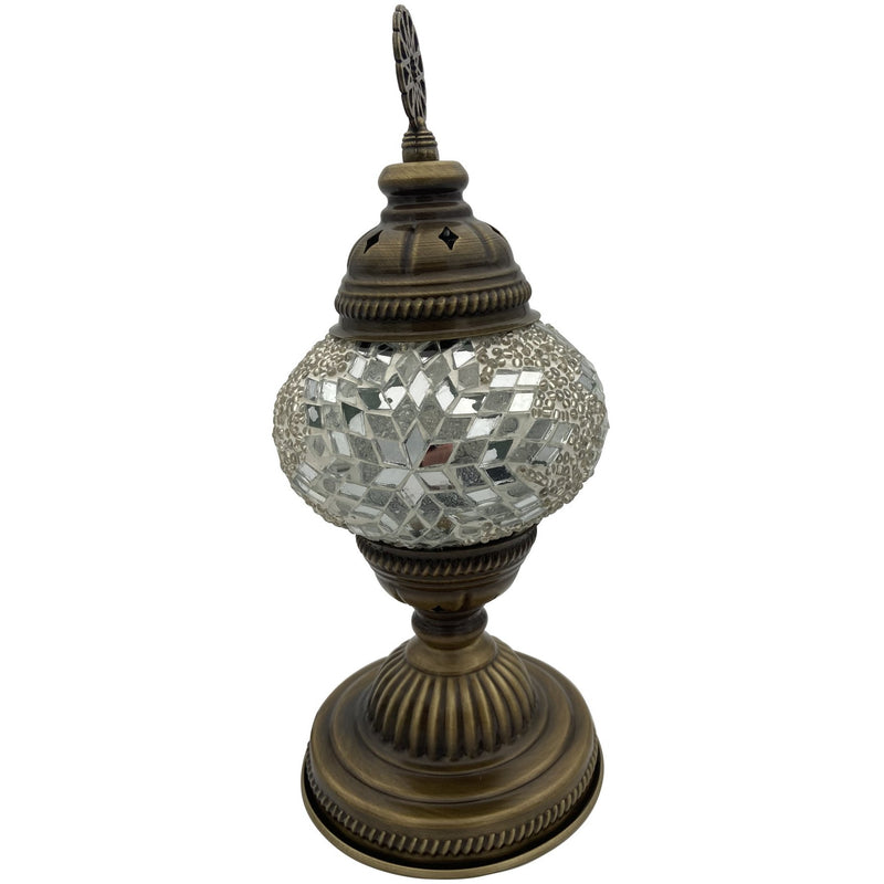 "5"" White Turkish Lamp - East Meets West USA"