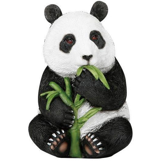 "6.5"" Panda Chewing on Bamboo Figurine - East Meets West USA"