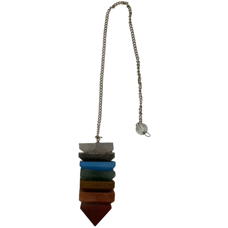 7 Chakra Stone Pendulum - East Meets West USA