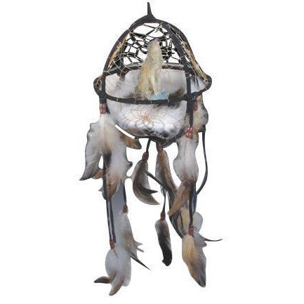 "7"" Wolf w/ Feathers Net Catcher - East Meets West USA"