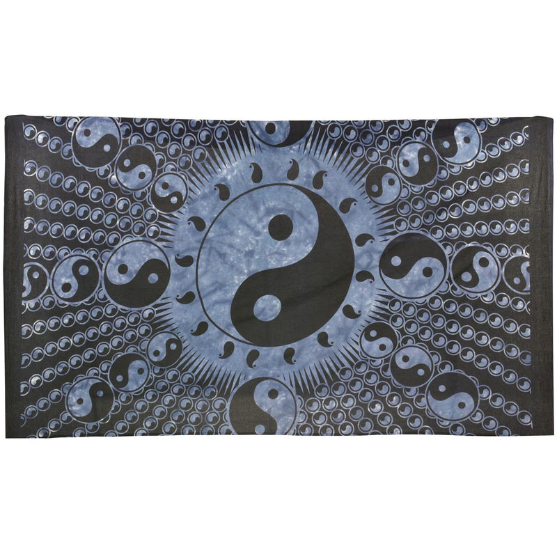"80""x50"" Blue Yin Yang Tapestry - East Meets West USA"