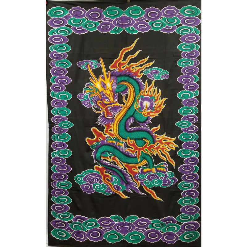 "86""x54""Chinese Dragon Tapestry - East Meets West USA"