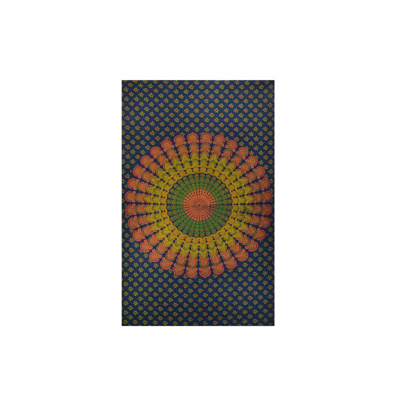 "90""x60"" Mirchi Kali Mandala Tapestry - East Meets West USA"