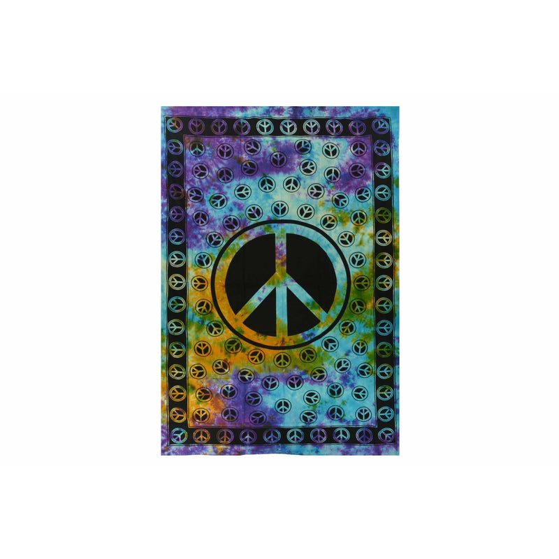 "90""x60"" Peace Sign Tapestry - East Meets West USA"
